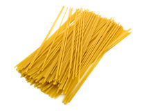 Spaghetti pasta on white Stock Image