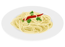 Spaghetti pasta on white background Royalty Free Stock Photo