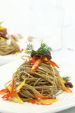 Spaghetti with peppers Stock Image