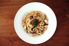 Spaghetti per il vegano Fotografie Stock Libere da Diritti