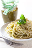 Spaghetti with pesto Royalty Free Stock Image