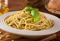 Spaghetti with Pesto Stock Images