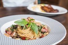 Spaghetti piccanti Fotografie Stock