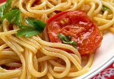 Spaghetti Piccanti al Pomodoro Fresco Royalty Free Stock Photography