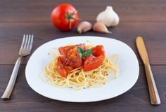 Spaghetti on a plate Stock Photography