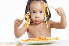 Spaghetti Play Royalty Free Stock Photos