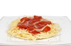 spaghetti pomidor Fotografia Stock