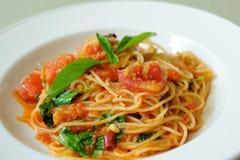 Spaghetti Pomodoro Zdjęcia Royalty Free