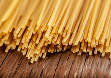 Spaghetti posted on the a row Royalty Free Stock Photography
