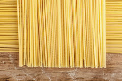 Spaghetti posted on the a row Stock Image