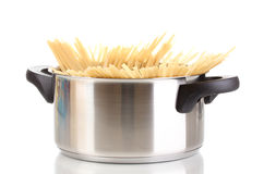Spaghetti in pot Royalty Free Stock Images