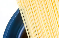 Spaghetti in pot Royalty Free Stock Photos
