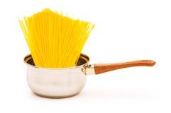 Spaghetti pot isolated Royalty Free Stock Photography