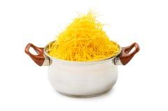 Spaghetti pot isolated Royalty Free Stock Photo