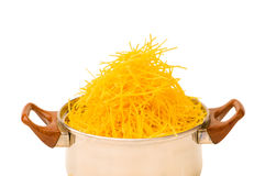 Spaghetti pot isolated Stock Image