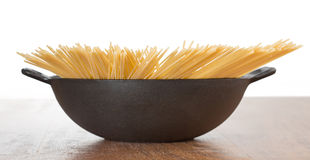 Spaghetti in pot Royalty Free Stock Image