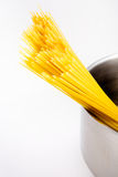Spaghetti in a pot Stock Image