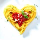 Spaghetti pour aimés Photo libre de droits