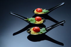 Spaghetti pranzanti fini Fotografia Stock