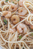 Spaghetti with prawns series 05 Royalty Free Stock Photo