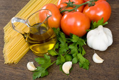 Spaghetti preparation Stock Photos