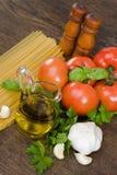 Spaghetti preparation Stock Photography