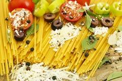 Spaghetti preparation Royalty Free Stock Photos