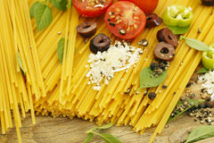 Spaghetti preparation Royalty Free Stock Photo