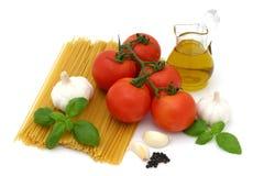 Spaghetti przygotowanie zdjęcie royalty free
