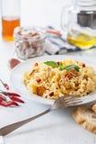 Spaghetti putanesca Stock Images