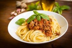 Spaghetti with ragout Stock Photo