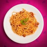 Spaghetti with ragout Royalty Free Stock Photos