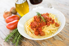 Spaghetti with ragout Stock Image