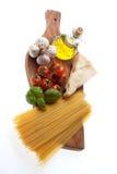 Spaghetti recipe Royalty Free Stock Photography