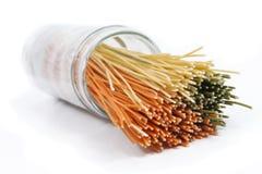 Spaghetti renversés Photographie stock