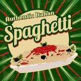 Spaghetti retro poster Royalty Free Stock Photo