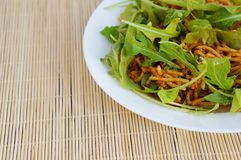 Spaghetti with rucola Royalty Free Stock Images