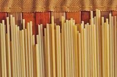 Spaghetti rustic background Royalty Free Stock Photo