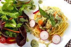 Spaghetti salmon Royalty Free Stock Photos