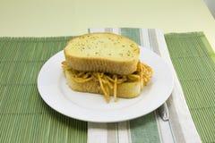 Spaghetti sandwich Stock Photos