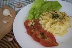 Spaghetti saporiti Fotografie Stock