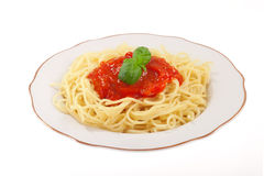 Spaghetti with sauce Royalty Free Stock Photo