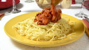 Spaghetti Sauce stock video