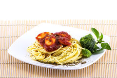 Spaghetti sauce with vegetable Stock Image