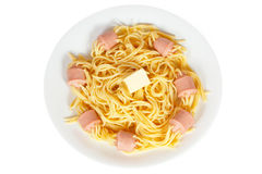 Spaghetti with sausage Royalty Free Stock Image