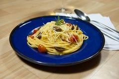 Spaghetti with sausage Royalty Free Stock Image
