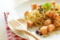 Spaghetti sausage Stock Image