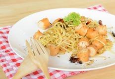 Spaghetti sausage Stock Photography