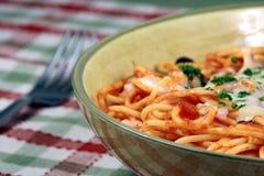 spaghetti savoureux de pâtes Images libres de droits