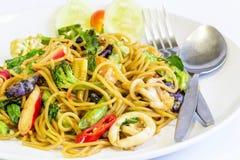 Spaghetti sea food Royalty Free Stock Photos
